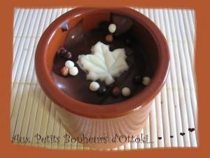 Crème chocolat amer et mascarpone