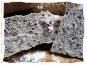 Baguettes sur poolish aux graines de lin