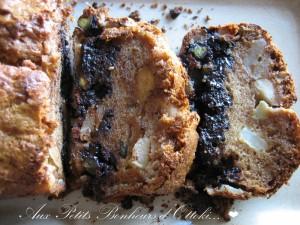 Cake pomme pistache choco