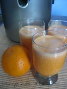 Jus orange carotte à la centrifugeuse