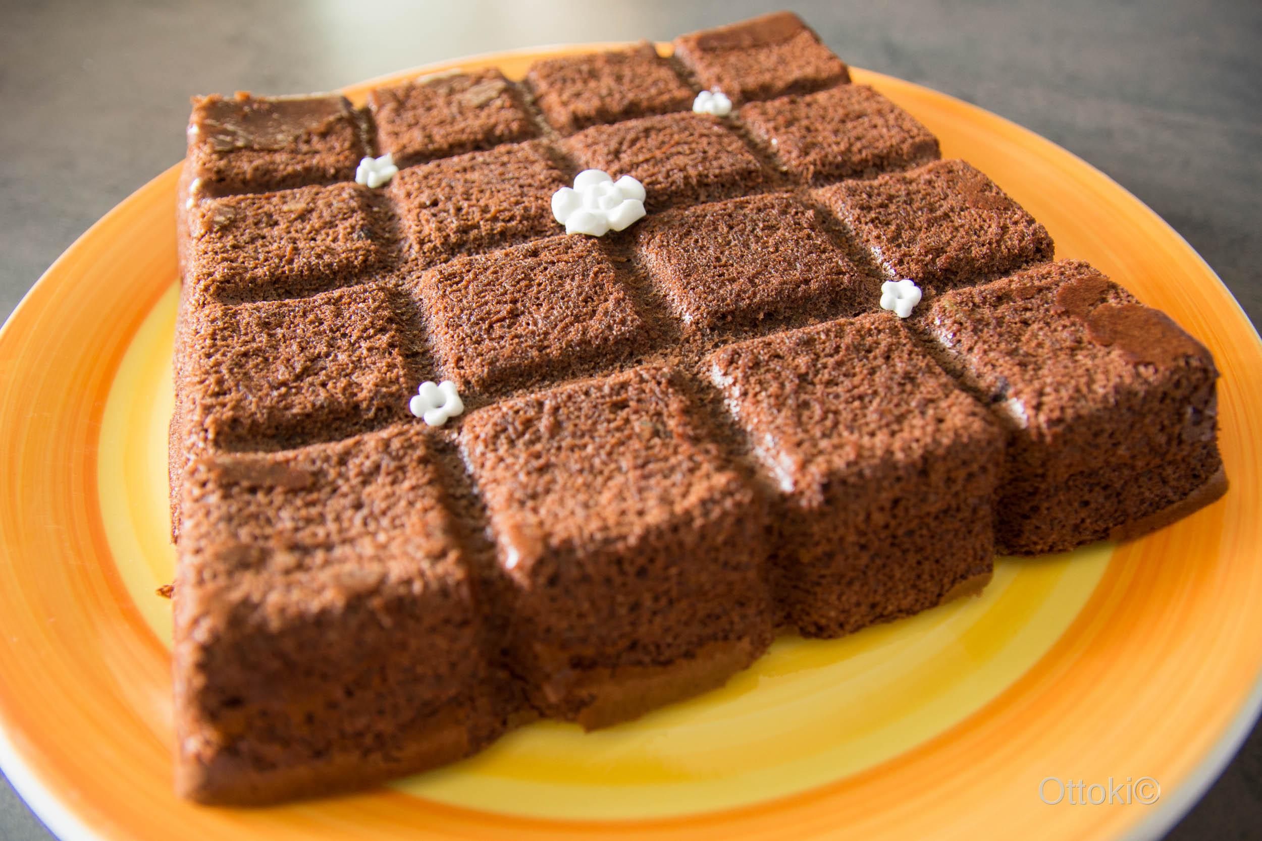 Gateau au chocolat et aux courgettes sans beurre