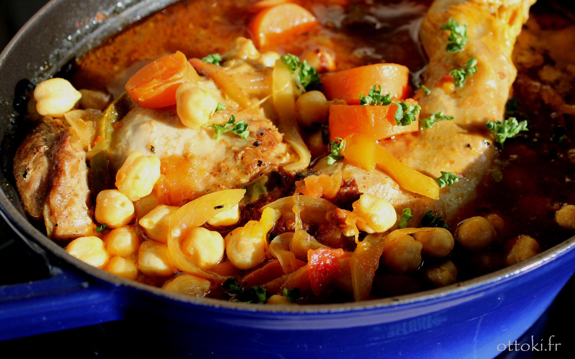 Ottoki volaille carottes pois chiches et curry - Cuisiner cuisse de dinde ...