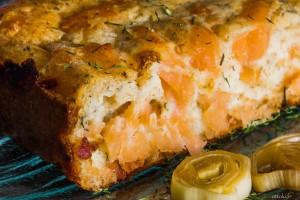 cake saumon fondue de poireaux