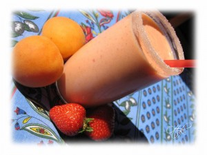 smoothie abricot fraise